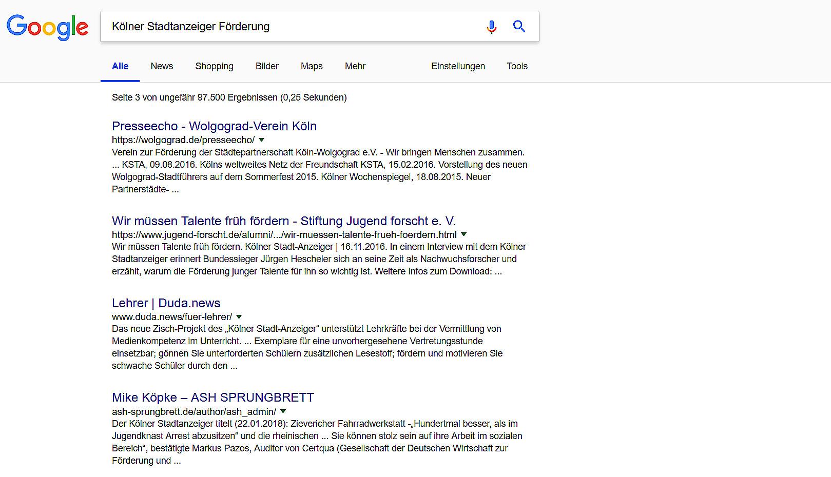 Googlesuche Fördermöglichkeiten