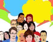 Menschen mit Sprechblasen