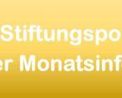 Schrift auf gelbem Untergrund, Stiftungen aus der Monatsinfo